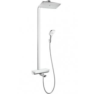 Душевая система с термостатом HANSGROHE Raindance Select S 360 Showerpipe, с белой полочкой (27113400)