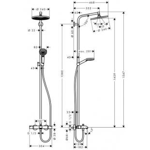 Душевая система Hansgrohe Crometta S 240 Showerpipe, хром (27320000 )