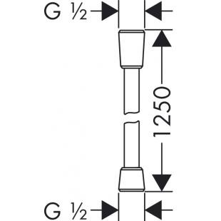 Душевой шланг Hansgrohe Isiflex 125 см 28272000