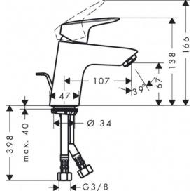 Душевая система Hansgrohe 27135000 с термостатом + Смеситель Hansgrohe Logis 71070000 (27135000+7107