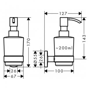 Дозатор жидкого мыла Hansgrohe Logis 41714000