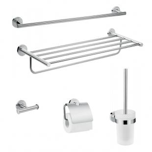 Набор аксессуаров для ванной комнаты 5в1 Hansgrohe Logis Universal 41728000