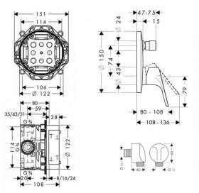 Набор для комплектации душа  HANSGROHE Focus E2, 31945111