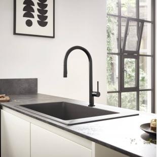 Смеситель Hansgrohe Talis M54 для кухонной мойки с выдвижным душем Black Matt 72801670