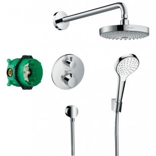 Набор для комплектации душа  HANSGROHE ShowerSet Croma Select S/Ecostat S Душевой набор (верхний, ру