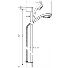 Душевой набор Hansgrohe Crometta 85 Vario 0,90 м 27766000