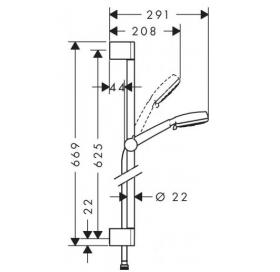 Душевой набор Hansgrohe Crometta 100 Multi  0,65 м 26650400