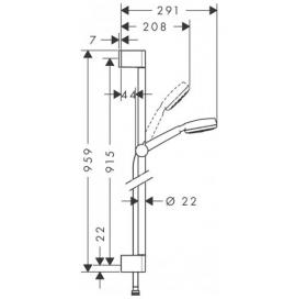 Душевой набор Hansgrohe Crometta 100  0,90м 26658400