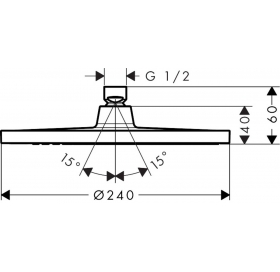 Верхний душ Hansgrohe Crometta S 240 1jet EcoSmart26724000