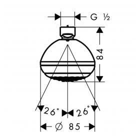 Верхний душ Hansgrohe Crometta 85 28423000