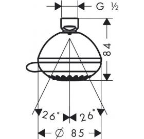 Верхний душ Hansgrohe Crometta 85 Multi 28425000
