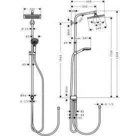 Душевая система Crometta E 240, Reno EcoSmart, 27289000