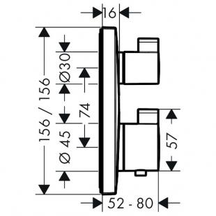 Смеситель-термостат Hansgrohe Ecostat Square, 15714000