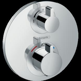 Смеситель-термостат Hansgrohe Ecostat  S  с запорным/переключающим вентилем 15758000