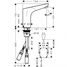 Смеситель для раковины электронный Hansgrohe Focus, 31173000