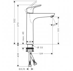 Смеситель для раковины однорычажный Hansgrohe Focus E2 31518000