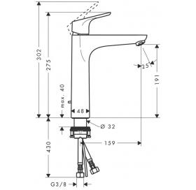 Смеситель для раковины однорычажный высокий Hansgrohe Focus E2, 31608000