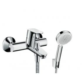 Смеситель однорычажный для ванны Hansgrohe Focus 31940000 с душевым набором Hansgrohe Crometta-100 2