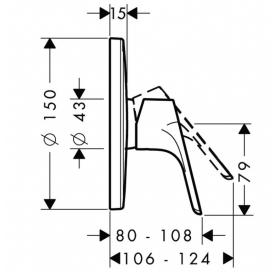 Смеситель для душа однорычажный Hansgrohe Focus E2 31965000
