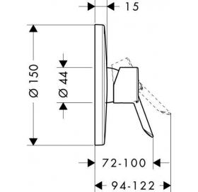 Смеситель в душевую кабину (врезной) накладная панель Focus S 31763000