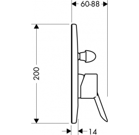 Смеситель для ванны однорычажный Focus S 31746000