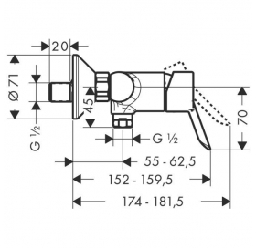 Смеситель для душа однорычажный Focus S 31762000
