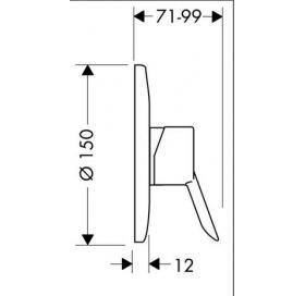 Смеситель для душа однорычажный Focus S 31767000