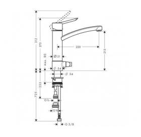Смеситель для кухни однорычажный Focus S 31783000