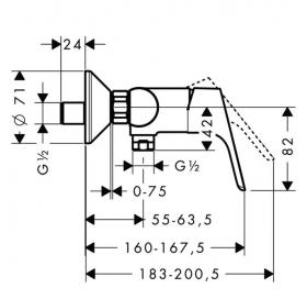 Смеситель для душа однорычажный Hansgrohe Focus E2 31960000