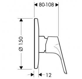 Смеситель для душа, однорычажный врезной Hansgrohe Focus E2 31967000