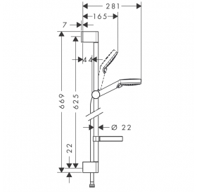 Набор смесителей для ванны HANSGROHE Logis Loop 100 1062019 (71151000+71244000+26553400)