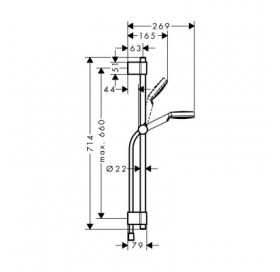 Душевой набор Hansgrohe Cromettа Vario / Unica Varia, 27353400