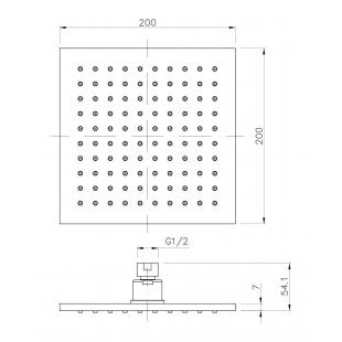 Верхний душ IMPRESE, с 1 типом струи, SQ200B