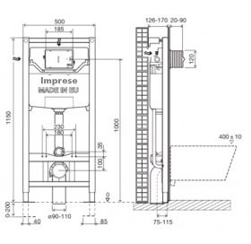 Комплект инсталляции Imprese 3в1, i8120