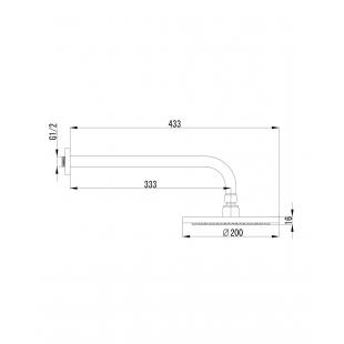 Душ верхний IMPRESE JESENIK, для скрытого монтажа, VR-10140(S)