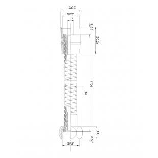 Шланг для душа IMPRESE 1215 эластичный растягивающийся с двойной оплеткой 1,5-1,8 м