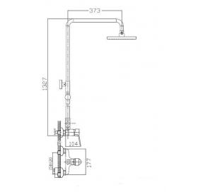 Душевая система IMPRESE WITOW, T-15080