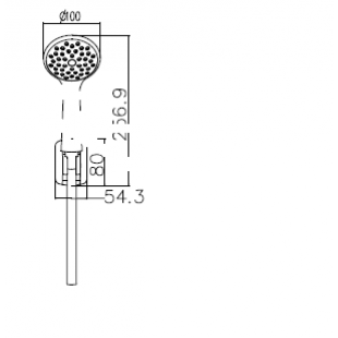 Душевой набор IMPRESE, с 1 типом струи, 1115+S023+W100SL1 CP