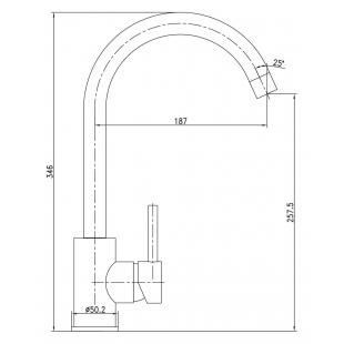 Смеситель для кухни IMPRESE LOTTA, однорычажный, 55401-SS