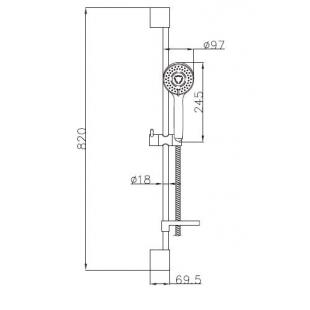 Душевой комплект IMPRESE DOBRANY, с 3 типами струи, 8210003