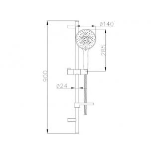 Душевой набор IMPRESE NETKA, с 3 типами струи, 9014003