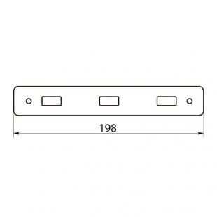 Крючек прямом IMPRESE BITOV, 3 шт, 101111