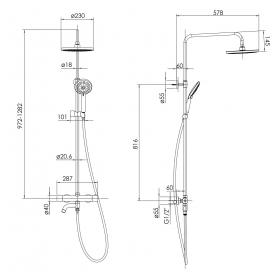 Душевая система с термостатом Imprese CENTRUM W Т-10510