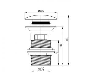 Донный клапан Pop-up IMPRESE GRAFIKY, ZMK041807500