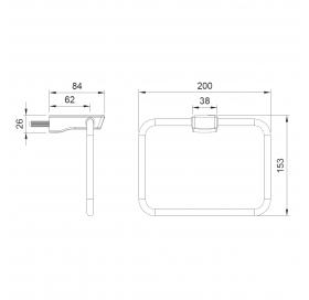 Прямоугольный полотенцедержатель Imprese Grafiky, ZMK04180828