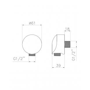 Шланговое подсоединение IMPRESE, HC01