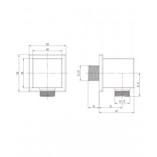 Шланговое подсоединение 1/2, IMPRESE, HC02