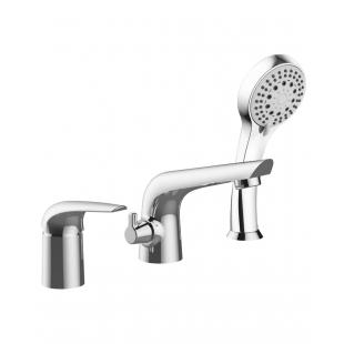 Смеситель для ванны IMPRESE KRINICE, на три отверстия, хром, 85110