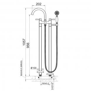 Cмеситель для ванны отдельностоящий Imprese PODZIMA ZRALA ZMK02170806