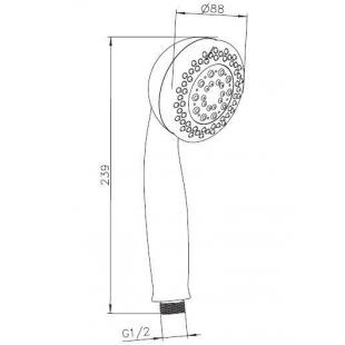 Ручной душ IMPRESE, 5 типов струи, W088R5